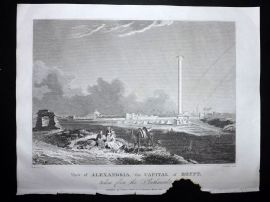 Clarke C1820 Antique Print. View of Alexandria, the Capital of Egypt